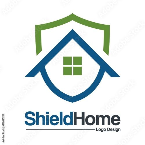 Home Security Logo Template Design Vector