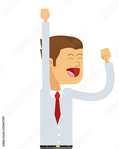Photo goofy businessman icon