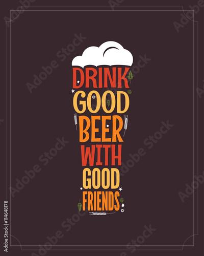 drink-good-beer-with-good-people-cytat-ulozony-w-ksztalt-szklanki-piwa