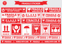 Fragile Sticker Sign. Easy To ...