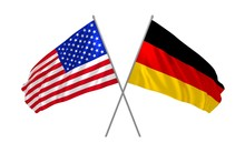 Flags Of USA And Germany Together