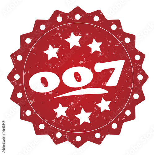 Foto  007 grunge stamp on white background