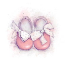 Baby Shoes With Dot Bow For A ...