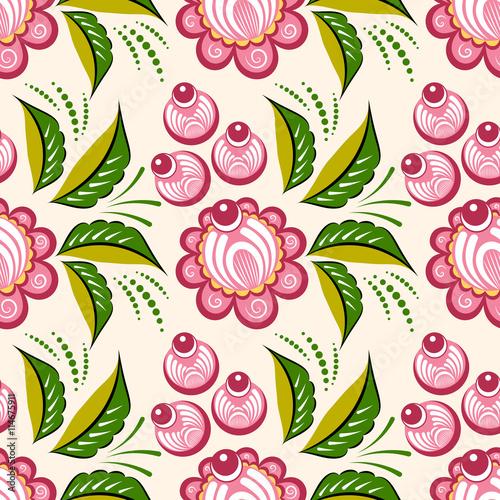 bezszwowe-rosyjski-kwiatowy-wzor