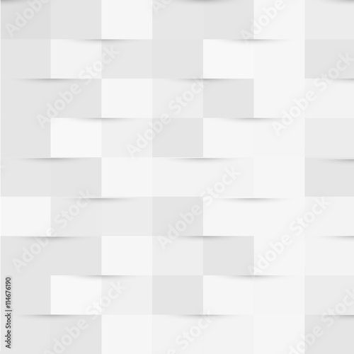 Soft white square pattern wallpaper, website or cover background
