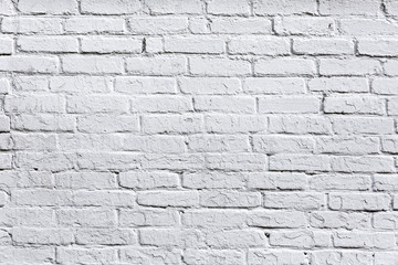 Fototapetaold white brick wall detail background