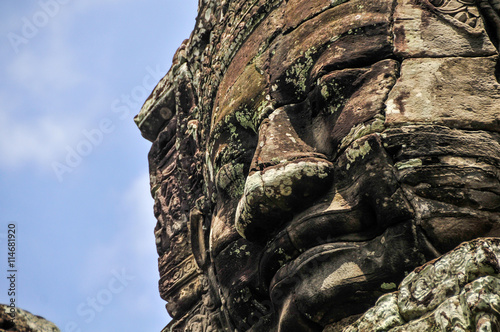 Bayon Temple in Angkor, Siem Reap, Cambodia Wallpaper Mural