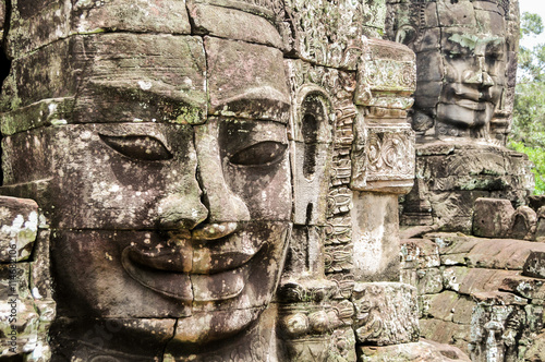 Photo  Bayon Temple in Angkor, Siem Reap, Cambodia