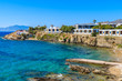 A view of beautiful bay with beach near Mykonos town, Cyclades islands, Greece
