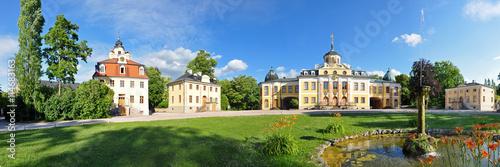 Fotografie, Obraz  Panoramafoto Schloss Belvedere bei Weimar