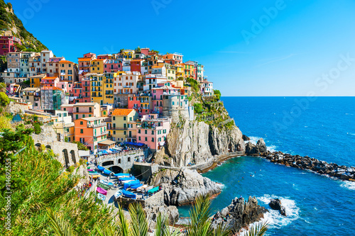 Printed kitchen splashbacks European Famous Place Cinque Terre national park, Italy