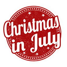 Christmas In July Stamp