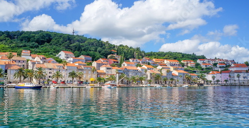 Valokuva  Korcula island in Croatia, Europe. Summer destination
