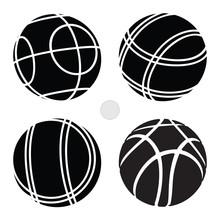 Bocce Ball Set Icon -  Petanque Vector