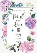 Vector Wedding Invitation With...