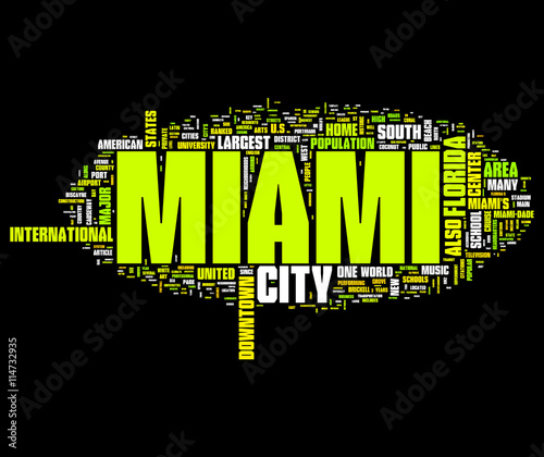 Photo Miami collage of word concepts