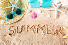 Summer Text In The Sand
