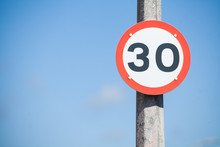 Speed Restriction Road Sign
