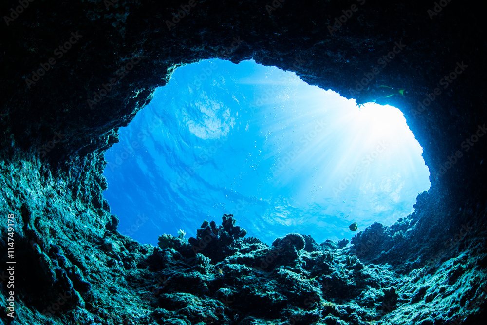 Fototapety, obrazy: Cave diving