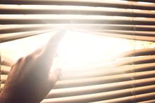 Sonnenlicht Kommt Durch Die Jalousie