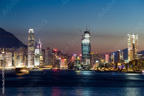 Photo  Hong Kong cityscape at night