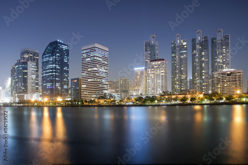 Foto op Canvas Restaurant cityscape at night city background