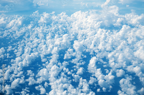Foto op Plexiglas Arctica Sky aerial view from plane, sky background