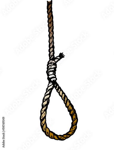 Rope noose hanging in vector Fototapeta