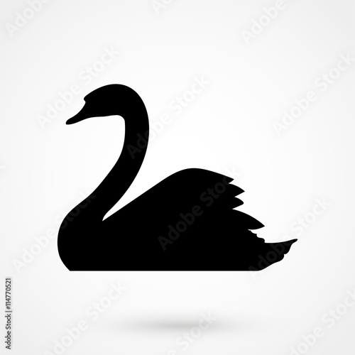 swan icon Canvas-taulu