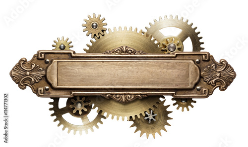 Steampunk clockwork mechanism Tablou Canvas