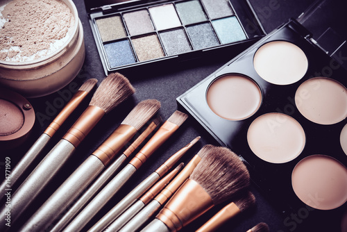 Professional makeup brushes and tools, make-up products set Fototapet