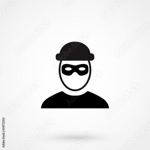 Fototapeta robber icon