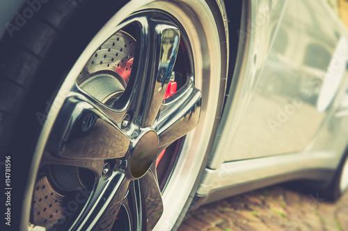 fototapeta na lodówkę Car in vintage effect