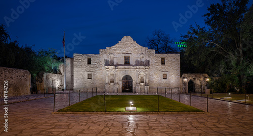 The Alamo, originally known as Mission San Antonio de Valero, in San Antonio, Te Canvas Print
