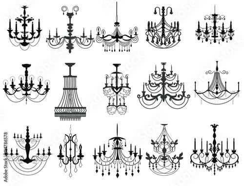 Cuadros en Lienzo Classic chandelier Set Collection