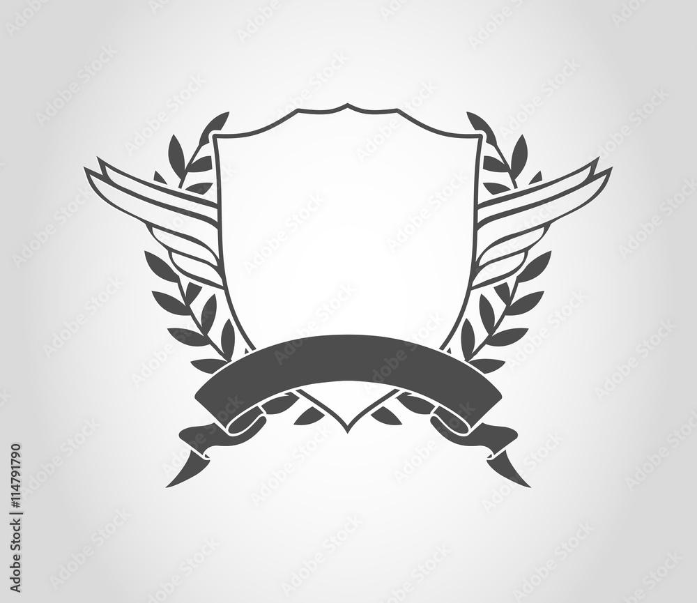 Fototapeta wappen logo design