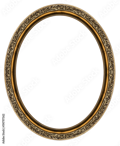 Oval frame isolated on white - Buy this stock photo and explore ...