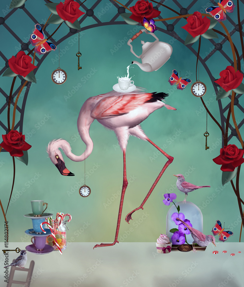 Flamingo wonderland party