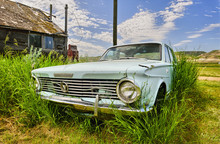 Old Car In Ghost Town Of Dorothy