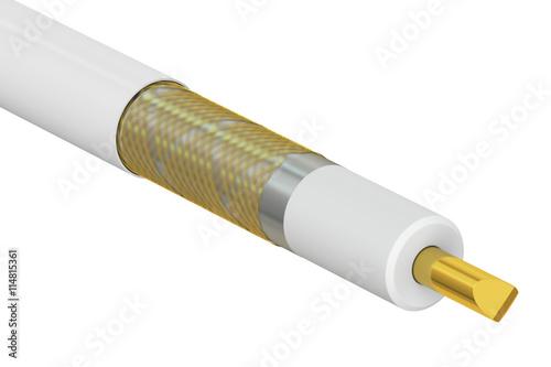 Fotografía  Coaxial cable cutaway, 3D rendering