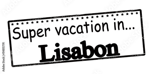 Super vacation in Lisabon Poster