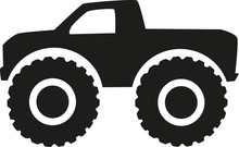 Monster Truck Icon - Four Wheel Drive