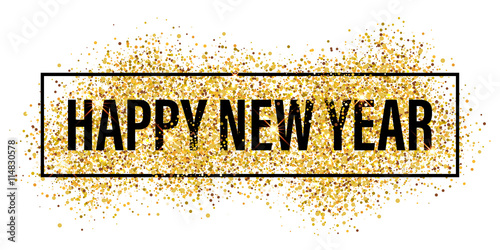 gold glitter flare spray texture new year background