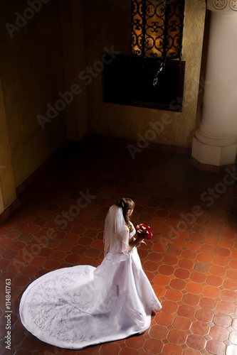Bride Waiting For Her Groom Poster
