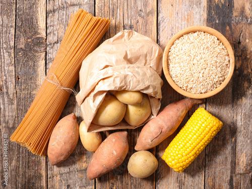 Cuadros en Lienzo  carbohydrate food background