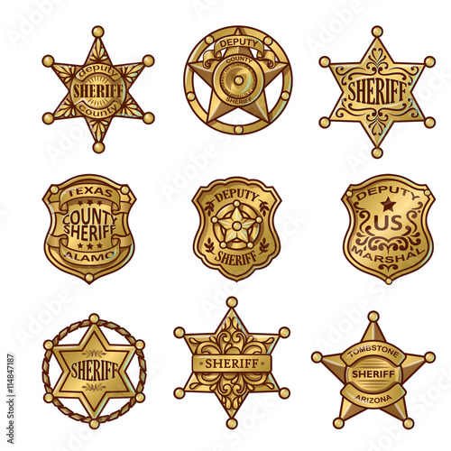 Valokuva  Golgen Sheriff Badges
