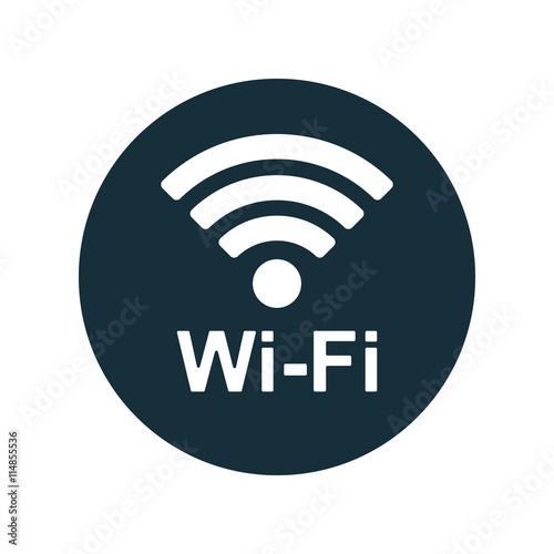 Fotomural  wi-fi point icon on white background