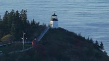 Flight Past Owls Head Lighthouse On Maine Coast