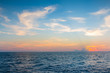 Natural skyline sea and sky background early sunset