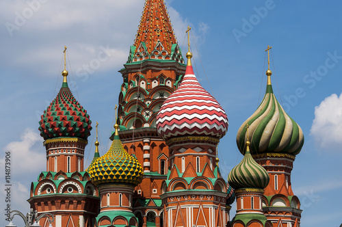 Basil's cathedral at the Red square in Moscow - 114873906